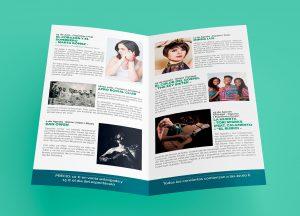 Díptico interior - Campaña de publicidad - Conciertos de Verano - Castillo Santa Catalina (Julio-Agosto 2017)