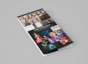 Folleto plegable - Campaña de publicidad - Gran Teatro Falla (Septiembre - Diciembre 2017)