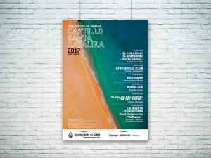 Cartel - Campaña de publicidad - Conciertos de Verano - Castillo Santa Catalina (Julio-Agosto 2017)