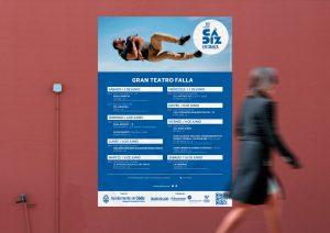 Cartel Falla - Campaña de publicidad - XVI Festival Internacional Cádiz en Danza