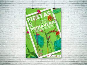 Cartel - Campaña de publicidad - Fiestas de Primavera Centro de Mayores (Valladolid) (2017)