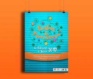 Propuesta V1 Cartel - Fiestas de Primavera Centro de Mayores (Valladolid) (2018)