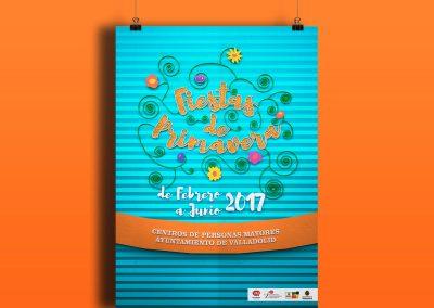 Propuesta campaña de publicidad de Fiestas de Primavera Centro de Mayores (Valladolid) (2018)