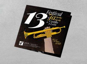 Cuadríptico frontal V1 - Propuesta de campaña de publicidad - 13º Festival de Jazz de Castilla y León 2018