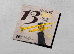 Cuadríptico frontal V2 - Propuesta de campaña de publicidad - 13º Festival de Jazz de Castilla y León 2018