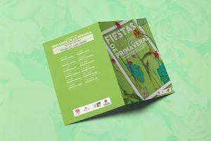 Díptico exterior - Campaña de publicidad - Fiestas de Primavera Centro de Mayores (Valladolid) (2017)