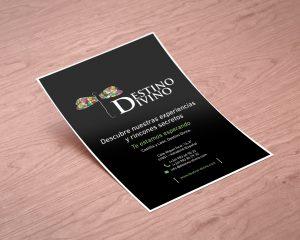 Anverso - Diseño editorial del flyer de Destino Divino para Fritur 2017