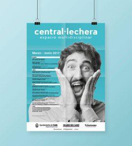 Folleto anverso - Campaña de publicidad - Sala Central Lechera (Marzo-Junio 2017)
