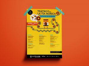 Folleto anverso - Campaña de publicidad - Teatro del Títere - La Tía Norica (Enero - Mayo 2018)