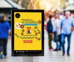 Lona grande - Campaña de publicidad - Teatro del Títere - La Tía Norica (Enero - Mayo 2018)
