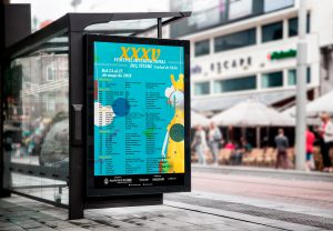 """Mupi - Campaña de publicidad - XXXV Festival Internacional del Títere """"Ciudad de Cádiz"""""""