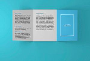 Triptico reverso - Propuesta de diseño editorial de Paseos Saludables por la Provincia de Valladolid (2018)