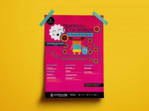 Folleto anverso - campaña de publicidad - Teatro del Títere - La Tía Norica (Septiembre - Diciembre 2018)