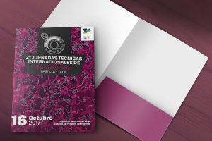 Carpeta - Campaña de publicidad - 2º Jornadas Técnicas Internacionales de Sumillería - Castilla y León