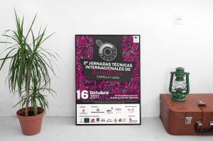 Cartel - Campaña de publicidad - 2º Jornadas Técnicas Internacionales de Sumillería - Castilla y León