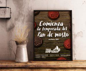 Diseño editorial - Cartel Comienza la temporada del Pan de Mosto (vendimia 2017)