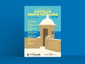 Cartel alternativo - Campaña de publicidad - Castillo Santa Catalina 2018