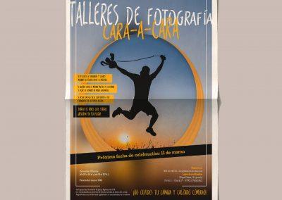 Diseño editorial – Cartel Talleres de fotografía CARA-A-CARA (Marzo 2017)