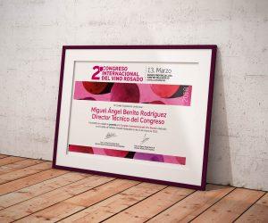 Diploma - Campaña de publicidad - 2º Congreso Internacional del Vino Rosado