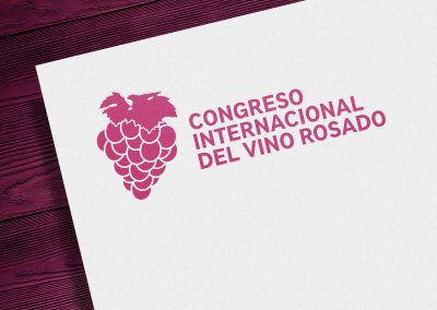 Diseño de identidad visual corporativa – Congreso Internacional del Vino Rosado