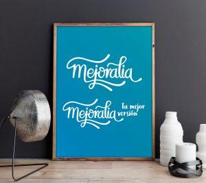 Propuesta poster version 1 negativo- Diseño de identidad visual corporativa - Logotipo Mejoralia