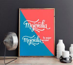 Propuesta poster version mixta 1 - Diseño de identidad visual corporativa - Logotipo Mejoralia