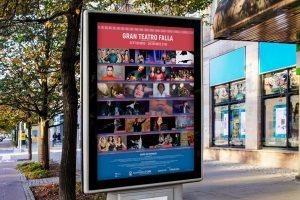 Mupi - Diseño de imagen de evento - Gran Teatro Falla (Septiembre - Diciembre 2018)
