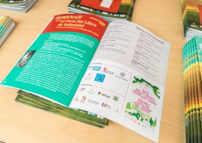 """Programa 8 - Diseño editorial - Maquetación de los soportes """"Feria del Libro de Valladolid 2019"""""""