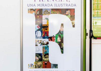 """Vinilo exposición Francia - Diseño editorial - Maquetación de los soportes """"Feria del Libro de Valladolid 2019"""""""